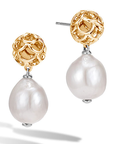 Legends Naga Baroque Pearl & 18K Drop Earrings