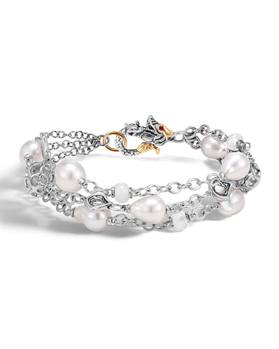 Legends Naga Baroque Pearl Three-Row Bracelet