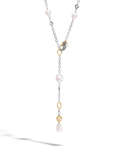 Legends Naga Baroque Pearl Y-Drop Necklace