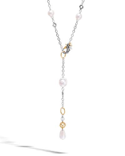 Legends Naga Baroque Pearl Y-Drop Necklace