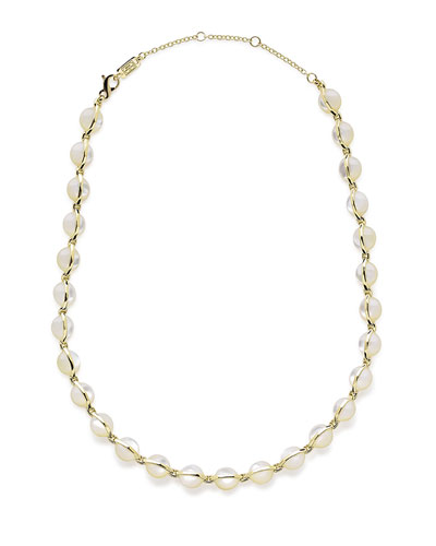 18K Senso™ Metal-Wrapped Mother-of-Pearl Necklace, 18