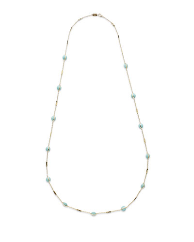 18K Senso™ Metal-Wrapped Turquoise Necklace, 37