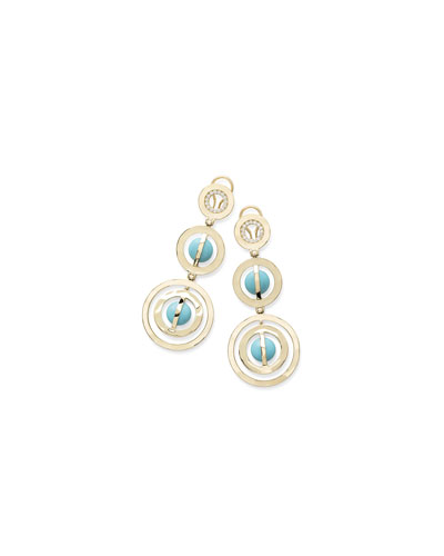 18K Senso™ Turquoise & Diamond Drop Earrings