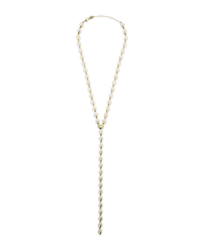 18K Senso™ Metal-Wrapped Mother-of-Pearl Y-Drop Necklace, 22