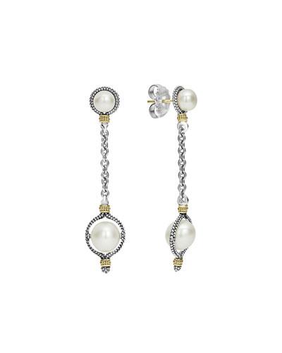 Luna Pearl Dangle Earrings