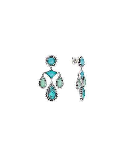 Maya Sliver Chrysocolla Chandelier Earrings