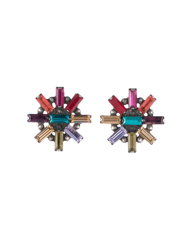 Baguette Crystal Statement Earrings