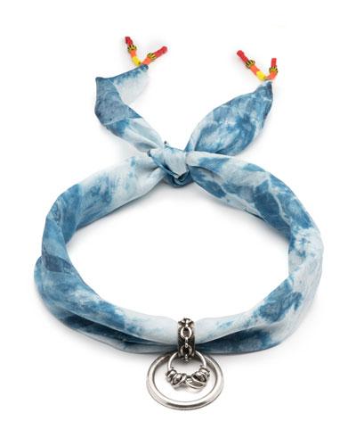 Iham Tie-Dye Bandana Choker Necklace