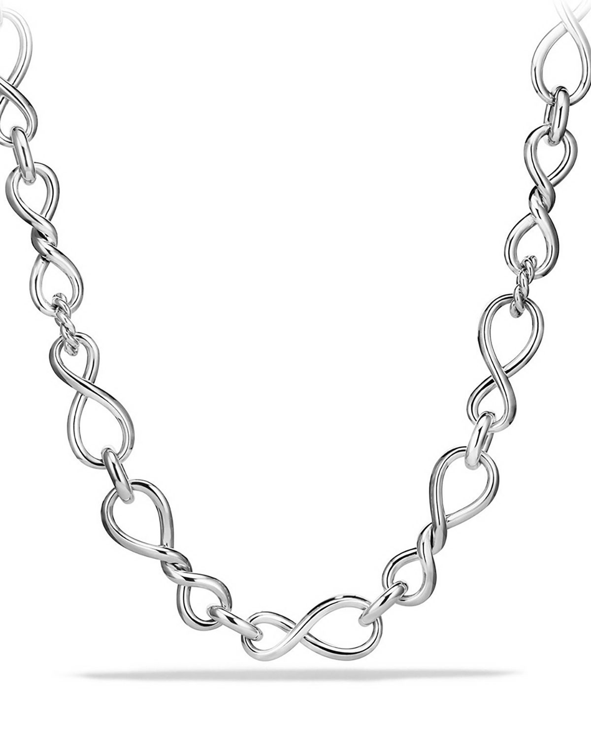 Continuance Sterling Silver Twisted Link Necklace
