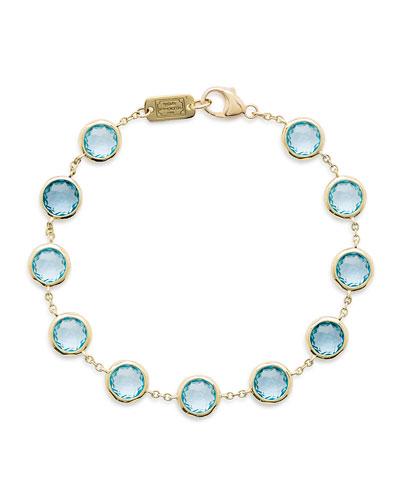18K Lollipop Swiss Blue Topaz Bracelet