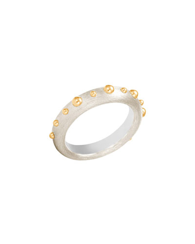 3mm Dot Brushed Band Ring, Size 7