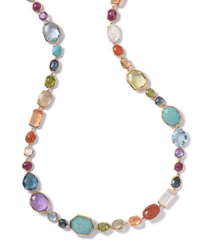 18K Rock Candy Sofia Necklace in Summer Rainbow, 39.5