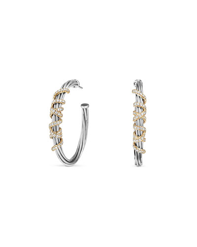 Helena Large Hoop Earrings with Diamonds