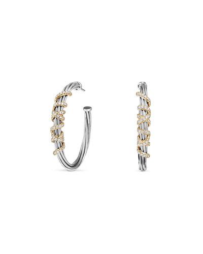 Helena Large Hoop Earrings with Diamonds