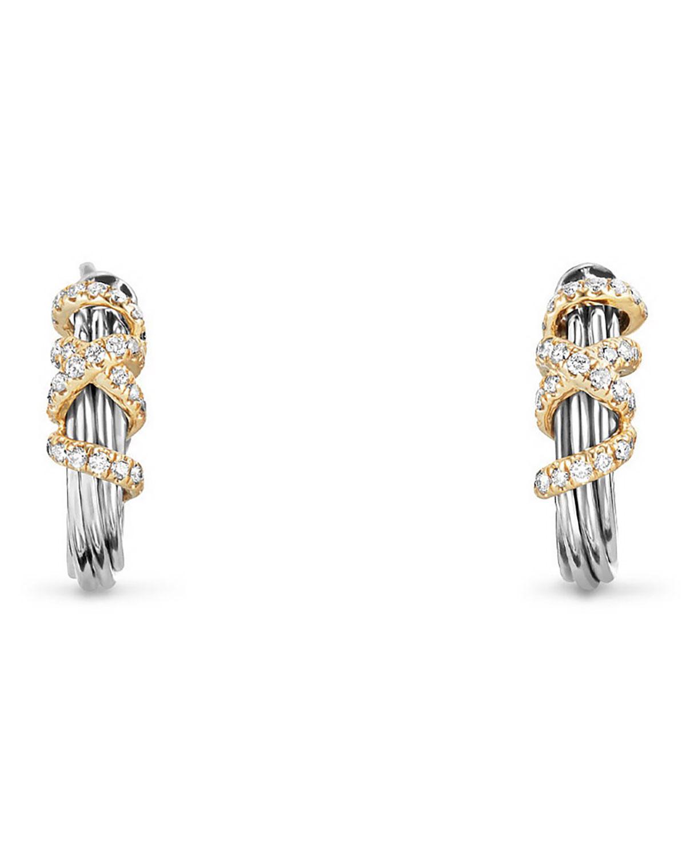 Helena Small Diamond Wrap Hoop Earrings