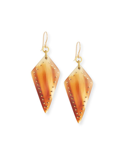 Radi Studded Mixed Horn Drop Earrings