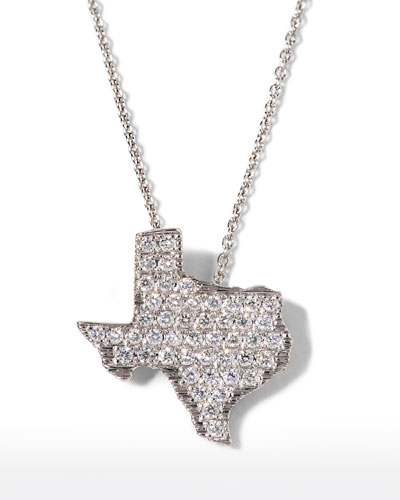 18k White Gold Diamond Texas Necklace