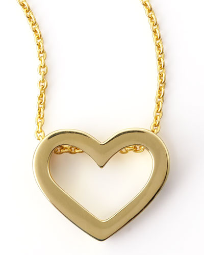 18k Yellow Gold Heart Necklace