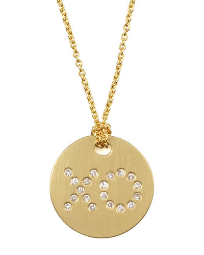 Diamond XO Medallion Necklace