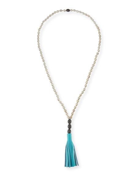 Hipchik Rachel Leather Tassel Pendant Necklace