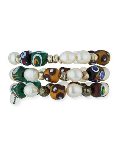 Val Set of Three Beaded Bracelets