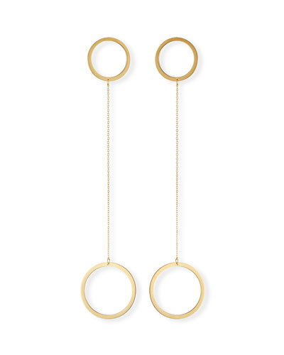 Laine Circle Double-Drop Earrings