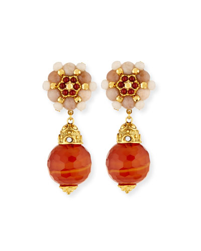 Carnelian Clip-On Earrings