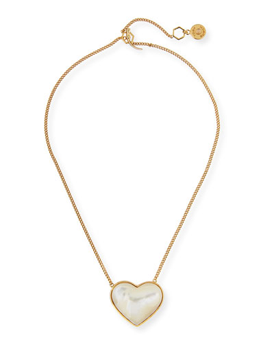 Amore Pearlescent Heart Pendant Necklace
