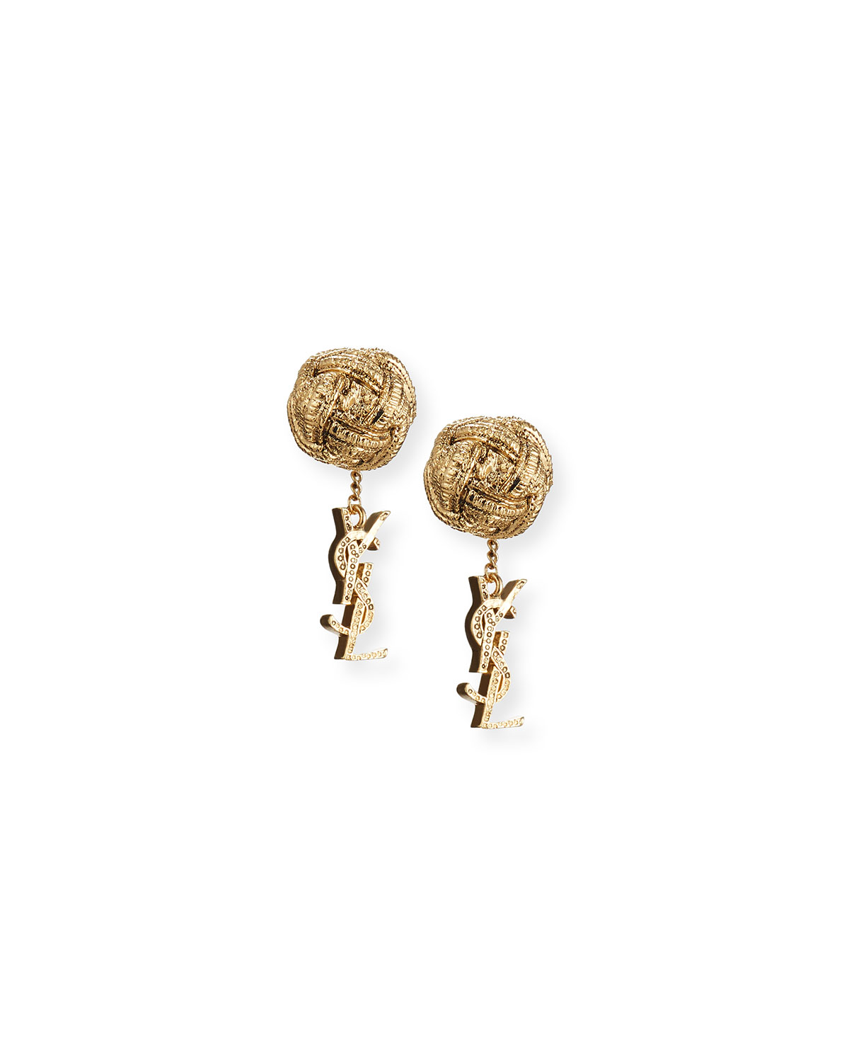 Monogram Small Drop Earrings