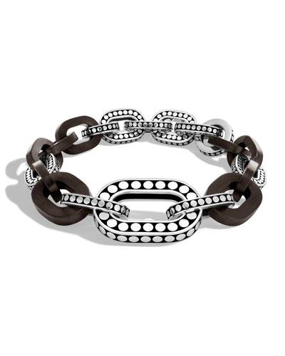 Dot Graduated Ebony Link Bracelet