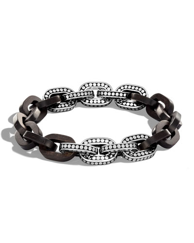 Dot Basic Ebony Link Bracelet, 11.5mm