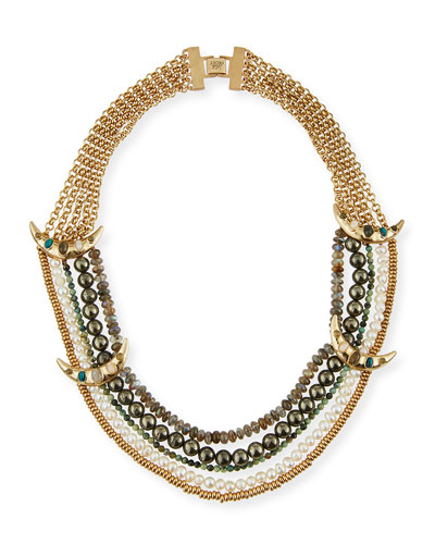 Andalusia Multi-Strand Pearl Necklace