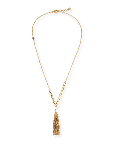 Granada Tassel Chain Necklace, 35