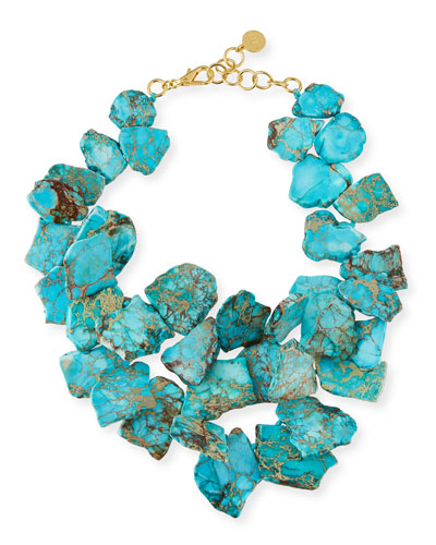 Turquoise Jasper Cluster Necklace