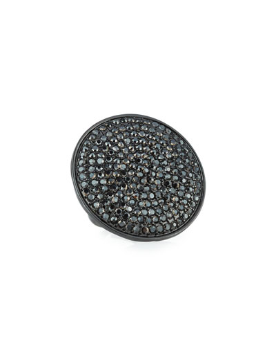 Adjustable Pave Disc Ring