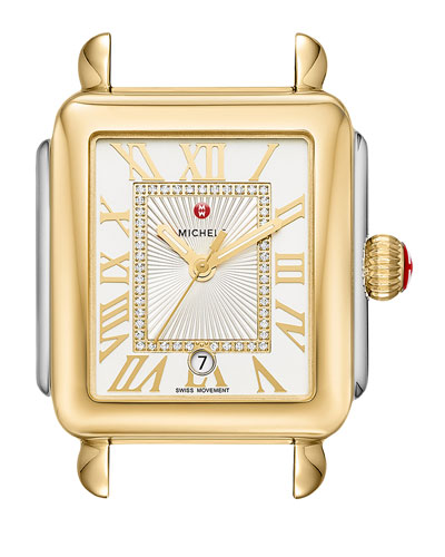 Deco Madison Two-Tone Watch Head with Diamonds