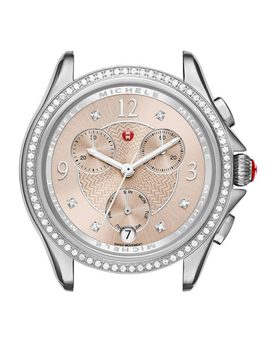 Belmore Chronograph Watch Head with Diamonds