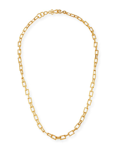 Spear 24K Gold-Plated Chain Necklace, 36