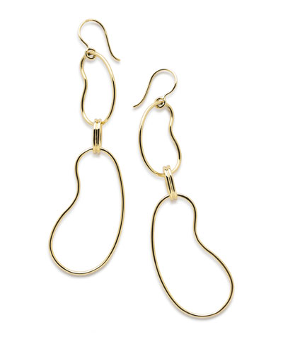 18K Classico Kidney Link Drop Earrings