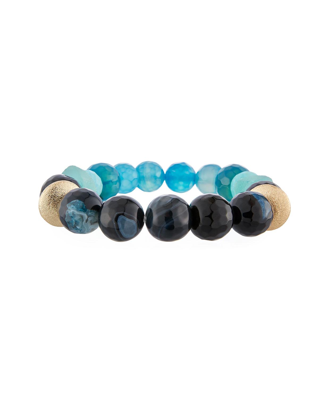 Blue Agate & Amazonite Bracelet