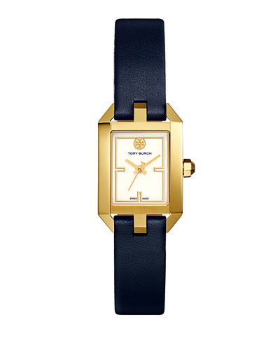 Dalloway Leather Strap Watch, Tory Navy