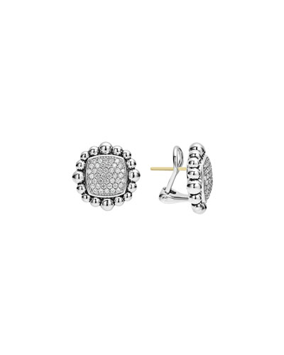 Caviar Spark Diamond Square Earrings