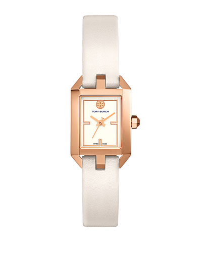 Dalloway Leather Strap Watch, White