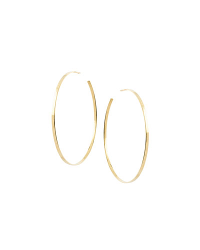 Large Sunrise Hoop Earrings in 14K Gold