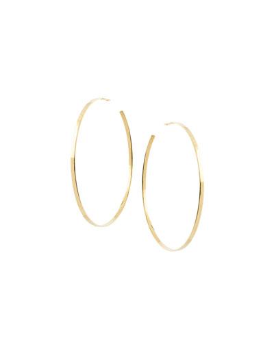 Large Sunrise Hoop Earrings in 14K Gold