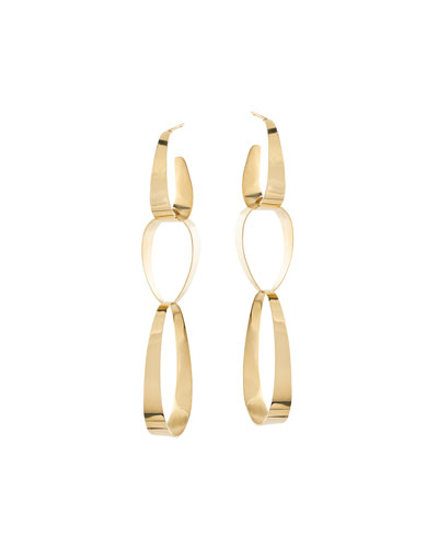 Bond Large Gloss Link Drop Earrings