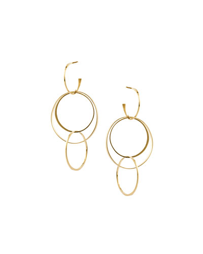 Bond Medium 14K Interlocking Flat Hoop Earrings