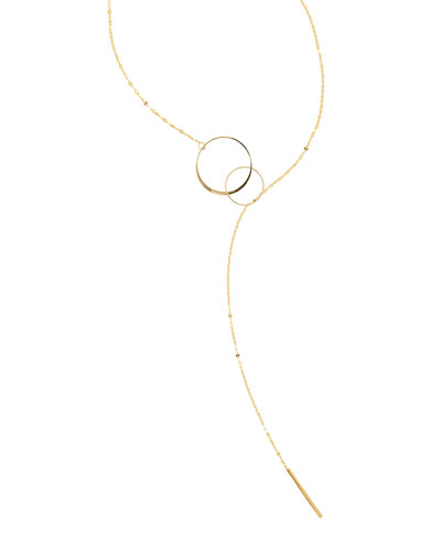 Bond Interlocking Y Lariat Necklace
