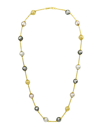 Champagne, Gray & Nuage Pearl Necklace, 16