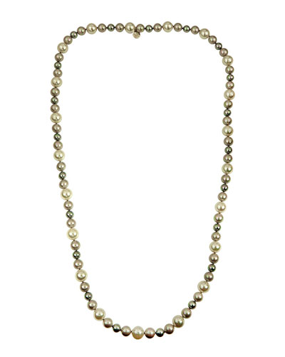 White, Gray & Nuage Pearl Necklace, 35